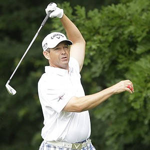 Lee Janzen during sectional qualifying at Rockville, Md., for the 2013 U.S. Open at Merion.