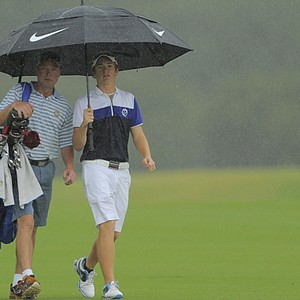 Sam Horsfield during sectional qualifying in Bradenton, Fla., for the 2013 U.S. Open at Merion.
