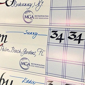 In sectional qualifying at Purchase, N.Y., for the 2013 U.S. Open at Merion, Sunny Kim leads early with a 68.