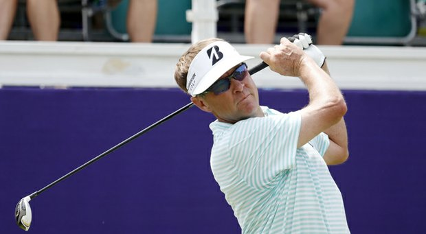 Davis Love III during the first round of the 2013 FedEx St. Jude Classic in Memphis, Tenn.