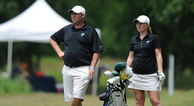 Andrew Pratt, left, has resigned as head women's golf coach at Tulane.