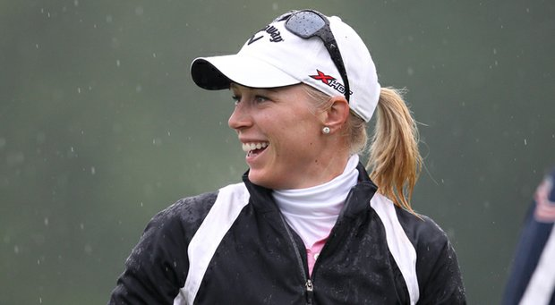 Morgan Pressel opened with 4-under 68 at the Wegmans LPGA Championship.