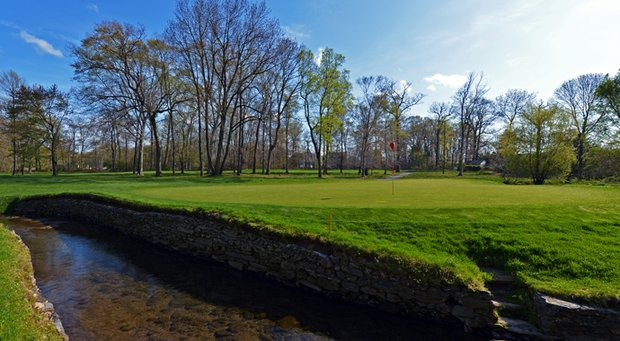 A view of the 11th hole on the East Course at Merion Golf Club.