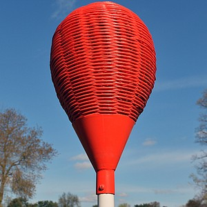 A view of the wicker basket at the 11th hole on the East Course at Merion Golf Club.