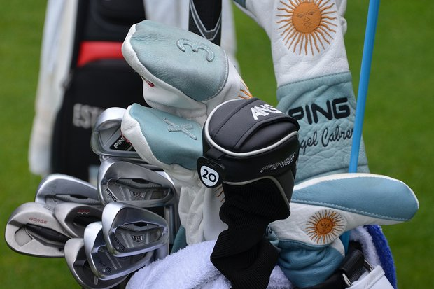 Angel Cabrera uses Ping S56 irons, but also has a Ping i20 3-iron in his bag at Merion.