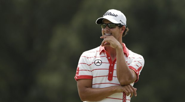 Adam Scott during his first win in a major at the 2013 Masters.