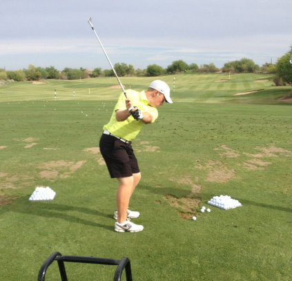 Brad Dalke on the range during the Thunderbird International Junior.
