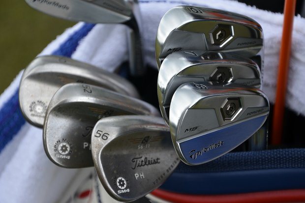 Peter Hanson plays TaylorMade Tour Preferred Forged MB irons and Titleist Vokey Design SM4 wedges.