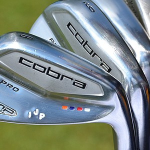 Ian Poulter, who never shies away from colorful outfits, also has a colorful set of Cobra AMP Cell Pro irons.