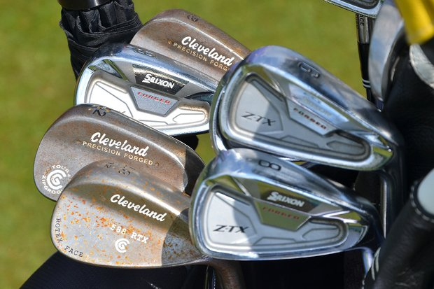 Graeme McDowell uses Cleveland 588 RTX wedges and Srixon Forged Z-TX irons.