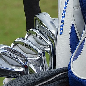 Luke Donald will try to win his first major championship using these Mizuno MP-64 irons at Merion.