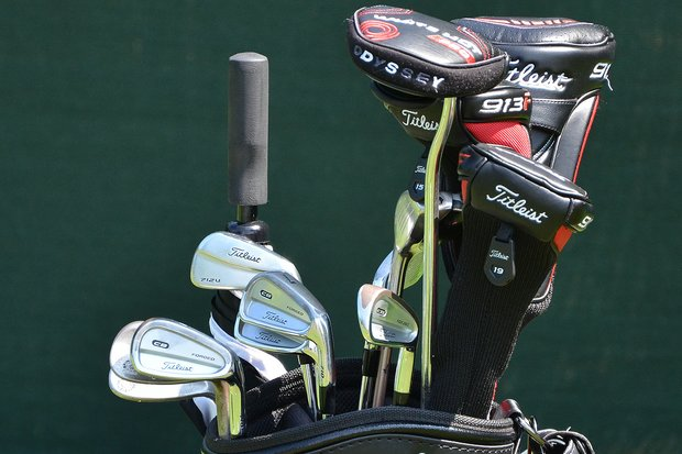 In Tim Clark's bag you'll find Titleist 710 CB irons, along with a Titleist 712U 4-iron.