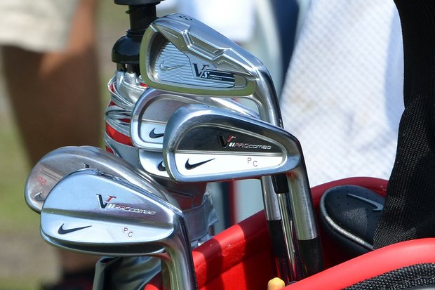 Paul Casey plays Nike VR Pro Combo irons, but also uses a VR_S Forged 3-iron.