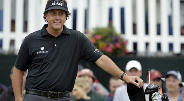 Phil Mickelson left the driver out of his bag for Thursday's first round of the 2013 U.S. Open at Merion.