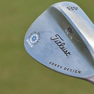 Webb Simpson's pitching wedge is a Titleist Vokey Design SM4 with 48-degrees of loft and a True Temper Dynamic Gold Tour Issue shaft.