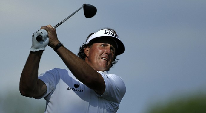 Phil Mickelson during the second round of the 2013 U.S. Open at Merion.