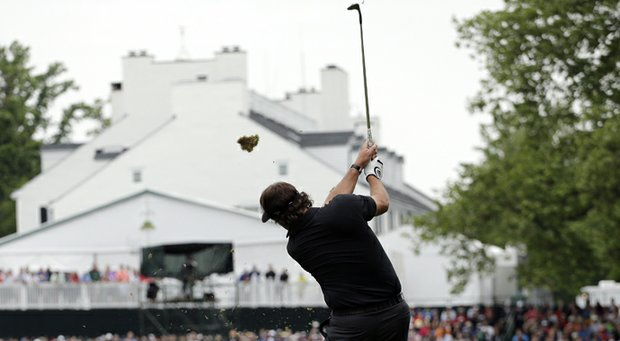 Phil Mickelson during the 2013 U.S. Open at Merion.