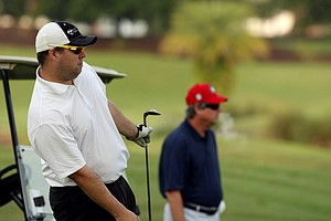 Andrew and David Price during the Golfweek Father & Son Open at Reunion Resort.