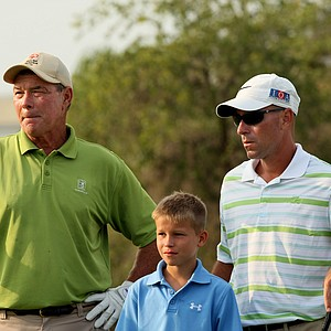 The Stephenson family at No. 9 during the Golfweek Father & Son Open at Reunion Resort.