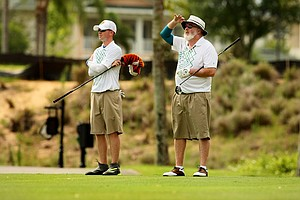 Gary and Jack Meadors during the Golfweek Father & Son Open at Reunion Resort.