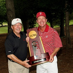 Jackie Seawell, Golfweek's Father of the Year, with his son Jay Seawell, who's team, Alabama, won the 2013 NCAA Championship at Capital City Club Crabapple Course.