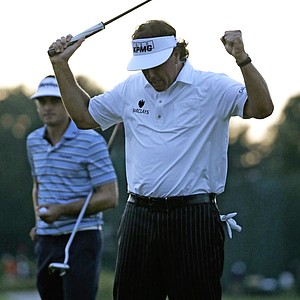 Phil Mickelson during the second round of the 2013 U.S. Open at Merion Golf Club.
