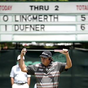 Jason Dufner during the third round of the 2013 U.S. Open at Merion Golf Club.