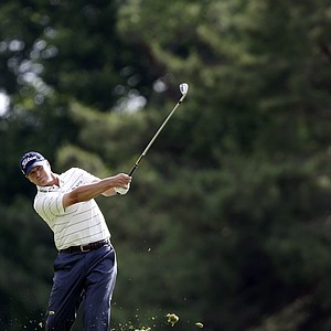 Steve Stricker during the second round of the 2013 U.S. Open at Merion Golf Club.