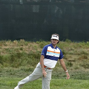 Bubba Watson during the second round of the 2013 U.S. Open at Merion Golf Club.