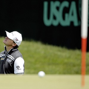 Paul Lawrie during the second round of the 2013 U.S. Open at Merion Golf Club.