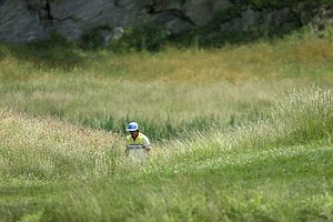 Rickie Fowler during the third round of the 2013 U.S. Open at Merion Golf Club.