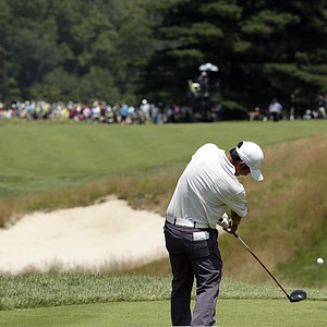 Cheng-Tsung Pan during the third round of the 2013 U.S. Open at Merion Golf Club.