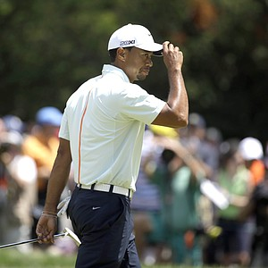Tiger Woods during the third round of the 2013 U.S. Open at Merion Golf Club.