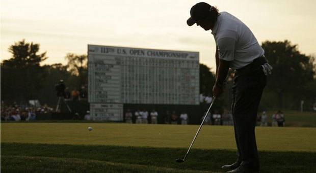 Phil Mickelson during the third round of the 2013 U.S. Open at Merion Golf Club.