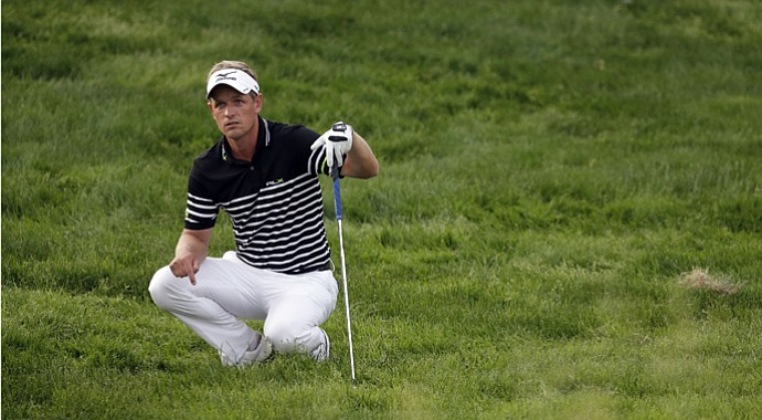 Luke Donald during the third round of the 2013 U.S. Open at Merion Golf Club.