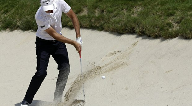 Nicolas Colsaerts during the third round of the 2013 U.S. Open at Merion Golf Club.