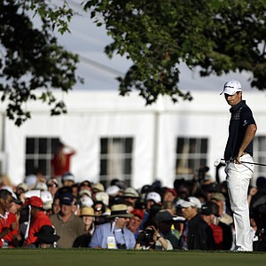 Justin Rose during his U.S. Open win in 2013 at Merion Golf Club.