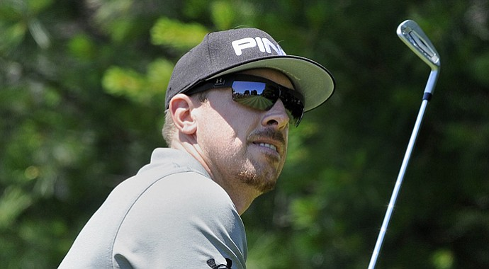 Hunter Mahan during his opening-round 62 at the 2013 Travelers Championship.