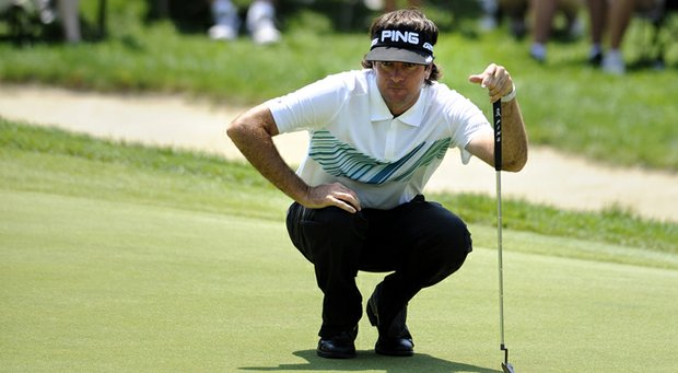 Bubba Watson leads after the second round of the 2013 Travelers Championship.