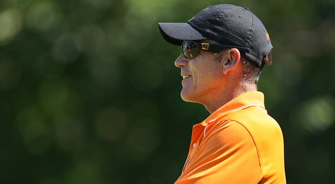 Mike McGraw, Oklahoma State men's golf coach, in 2011.