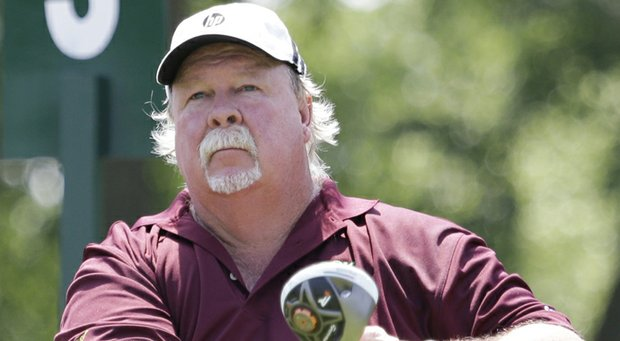 Craig Stadler during the final round of his win at the 2013 Encompass Championship on the Champions Tour.