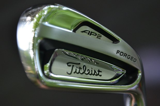 Titleist unveiled the new 714 AP2 irons to pros at Congressional Country Club on Monday.