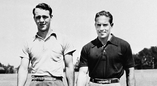 Frank Stranahan (right) was paired with Arnold Palmer at the 1949 North & South Amateur, which Stranahan won.