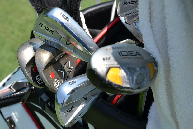 Stuart Appleby's Callaway X Forged wedges make his bag easy to spot.