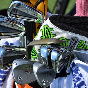 Nicholas Thompson uses a set of TaylorMade RocketBladez Tour irons.