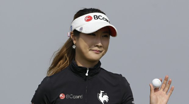 Ha-Neul Kim during the 2012 HanaBank Championship in Incheon, South Korea.
