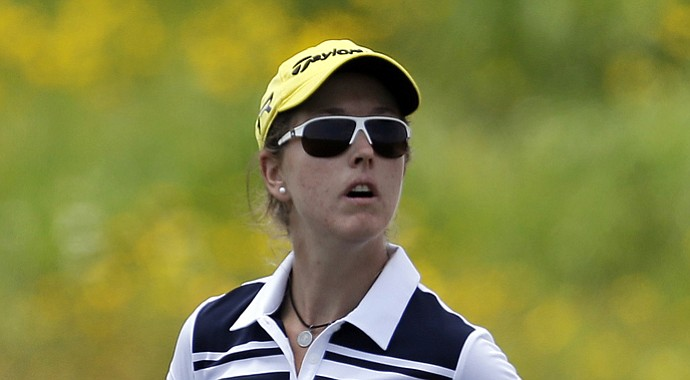 Paz Echeverria during the first round of the 2013 U.S. Women's Open at Sebonack in Southampton, N.Y.