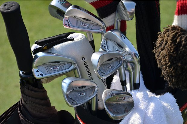 Arjun Atwal uses Ping S56 irons and a Fourteen gap wedge.