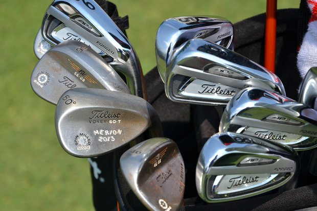 Jordan Spieth put a new set of Titleist 714 AP2 irons in his bag at the start of the week, but he has kept the Vokey Design SM4 wedges he used during the U.S. Open.