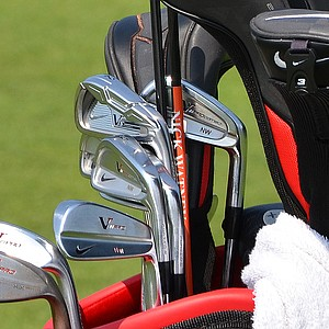 Nick Watney has a Nike VR_S Forged 2-iron along with Nike VR Pro Combo irons this week.